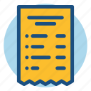 bill, calculation, commerce, price, shopping, tax icon
