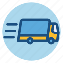 cargo, commerce, delivery, fast, fast delivery, shopping, truck icon