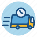 cargo, commerce, delivery, fast, same day delivery, shopping, truck icon