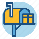 box, commerce, gift, mail, mailbox, postbox, shopping icon