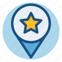 badge, commerce, pin, shopping, star icon