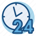 24 hours, commerce, day, delivery, shopping icon