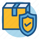 commerce, delivery, package, package protection, protection, shopping icon