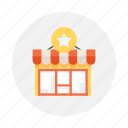 online shop, shopping store icon