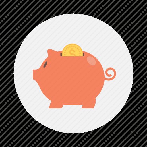 coin, money, pig, piggy icon