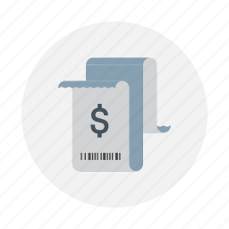 bill, invoic, paid, paper, receipt icon