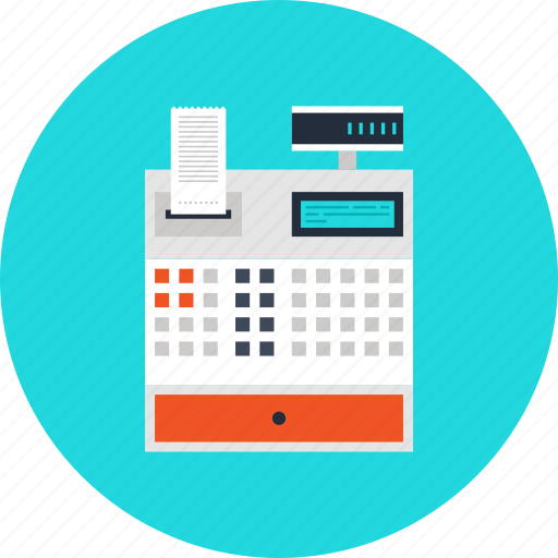 accounting, business, cash, cashbox, checkout, finance, money, pay, payment, register, shopping icon