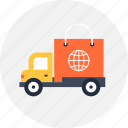 buy, car, cargo, commerce, delivery, logistic, shopping, transportation, truck, van icon