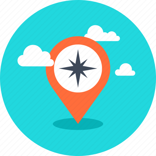 compass, direction, gps, location, map, marker, navigation, pin, place, pointer icon