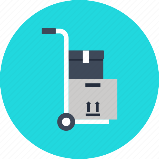 box, cargo, cart, container, delivery, hand, logistic, package, shopping, truck icon