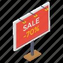 ad board, advertisement billboard, banner board, poster board, road board icon