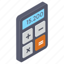 accounting, calc, calculation, calculator, digital calculator, maths icon
