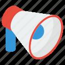 announcement, bullhorn, loud speaker, megaphone, speaking trumpet