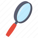 explorer, finding glass, lab magnifier, magnifier, magnifying glass, search icon
