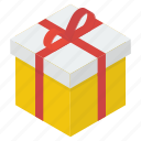 gift, gift box, present, surprise, wrapped gift icon