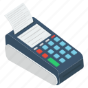 cash till, point of sale, invoice machine, pos, pos terminal icon