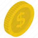 cash, coins, currency coins, dollar coins, money icon