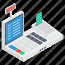cash register, cash till, invoice machine, point of sale, pos terminal icon