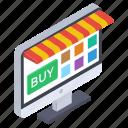 e commerce, online buying, online market, online shop, shopping website icon