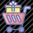 handcart, pushcart, shopping, shopping cart, shopping trolley icon