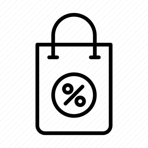 bag, discount, offer, sale, shopping icon