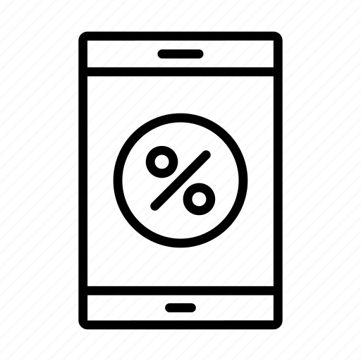 discount, ecommerce, mobile, offer, sale icon