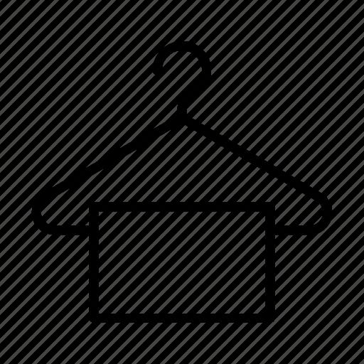 cloth, hanger, rack, shopping, towel icon