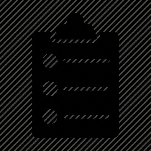 clipboard, document, list, option, sheet icon