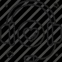 call, center, customer, headphone, service