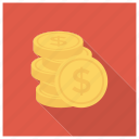 cash, coins, currency, finance, goldcoins, money, uscoins icon