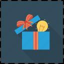 box, bulb, gift, greatgiftidea, idea, light, present icon