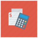 accounting, calculate, calculation, calculator, math, receipt, shopping icon