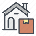 box, delivery, house, shipping, shop, shopping icon