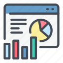 analytics, diagram, statistics, stats, web, website icon
