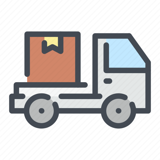 box, delivery, fast, shipping, truck, van icon