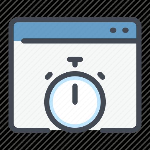 online, order, shopping, stopwatch, traker, web, website icon