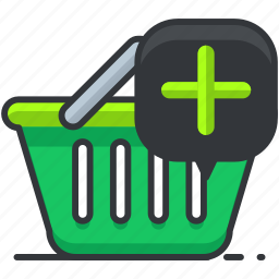 add, basket, ecommerce, finance, shopping icon