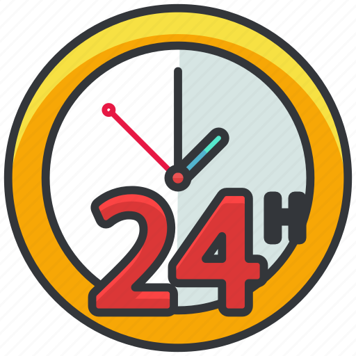 always, available, clock, ecommerce, finance, shopping icon
