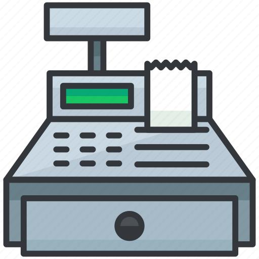 cash, ecommerce, finance, register, shopping icon