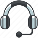customer, ecommerce, finance, headset, service, shopping icon