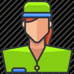 avatar, ecommerce, employee, finance, shopping, woman icon