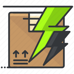 box, ecommerce, express, finance, package, shopping icon