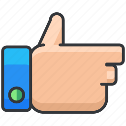 ecommerce, finance, gesture, like, shopping, thumbs up icon
