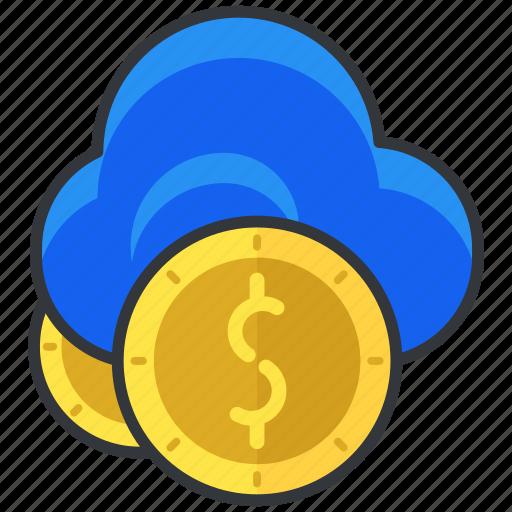cloud, dollar, ecommerce, finance, money, shopping icon