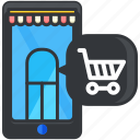 ecommerce, finance, mobile, online, shop, shopping, smartphone icon