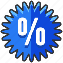 ecommerce, finance, percent, percentage, sale, shopping, sticker icon
