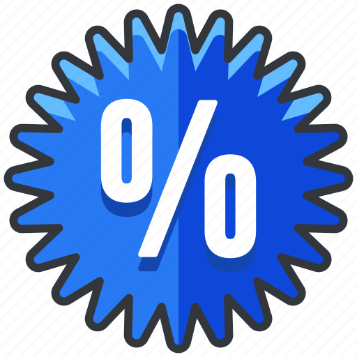 ecommerce, finance, percent, percentage, sale, shopping, sticker icon