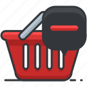 basket, ecommerce, finance, remove, shop, shopping icon