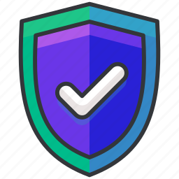confirm, ecommerce, finance, security, shield, shopping icon