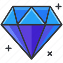 diamond, ecommerce, finance, shopping, value icon